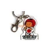 MOOTO Porte clé Taeki Combattant Rouge