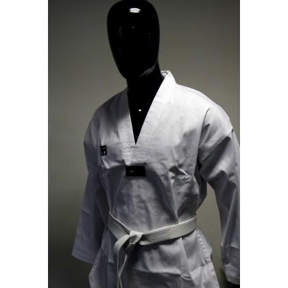 "MOOTO Dobok Basic FLYKICK col blanc WTF broderie ""Taekwondo"""