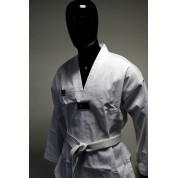 "MOOTO Dobok Basic FLYKICK col blanc WTF avec broderie ""Taekwondo"""